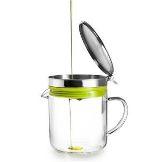 Pot recycleur d´huile avec passoire transparent