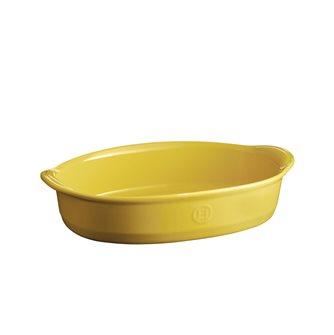 Plat à four ovale Ultime 35 cm en céramique jaune Provence Emile Henry