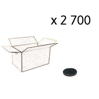 Carton de 2700 capsules noires de 48 mm