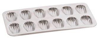 Plaque en fer blanc pour 12 madeleines