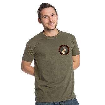 Tee shirt kaki XXL chasse lièvre de Bartavel Nature