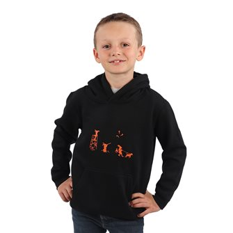 Sweat à capuche garçon noir 10 ans humoristique Bartavel