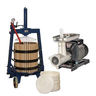 Ensemble de fabrication d'huile avec pressoir hydraulique