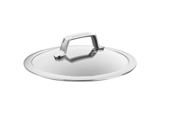 Couvercle verre et inox 22 cm TechnIQ SCANPAN
