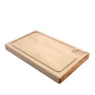 Planche à découper 38x25 cm d´une pièce avec rigole fabriquée en France