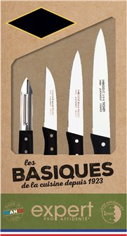Coffret 4 couteaux cuisine lame microdentée sans aiguisage fabriqué en France