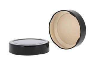 Capsule pour Bocal Jupe Haute diam 82 mm couleur noir par 420