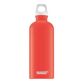 Gourde alu rouge clair 0,6 l légère réutilisable Lucid Scarlet Touch Sigg