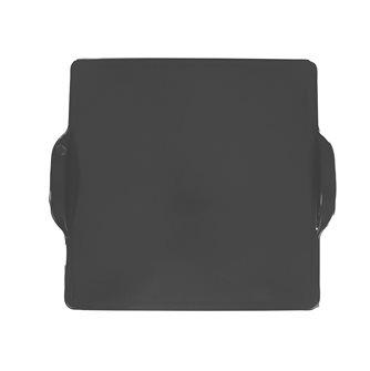 Plaque à four et barbecue en céramique carrée 35 cm anthracite Fusain Emile Henry EXCLU