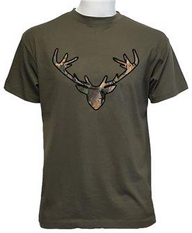 Tee shirt tête de cerf kaki XXXL de Bartavel