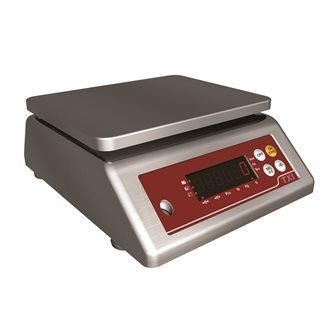 Balance toute inox compacte étanche IP67 20 g à 15 kg précision 1 g