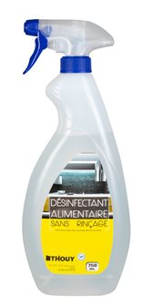 Désinfectant virucide sans rinçage spray 750 ml apte au contact alimentaire