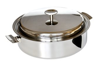 Sauteuse Baumstal inox induction 24 cm avec couvercle