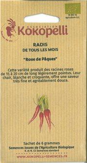 Graines de radis rose de Pâques