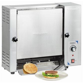 Toaster grille-pain vertical pro inox faible encombrement et rapide pour burger et sandwich