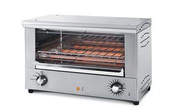 Salamandre four à snacker infrarouge 2 000 W 3 positions de cuisson