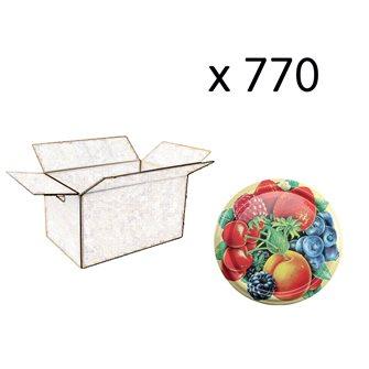 Capsules twist-off 82 mm décor fruits par 770 pcs